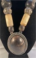 Tribal Wood Bine Necklace