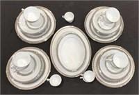 55 pc Noritake Chestwood Platinum China