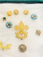 old Girl Scout & one cub scout pin lot