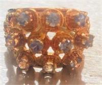 14K Gold Custom made gemstone ring size 6