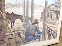29 x 23 Cowboy Print