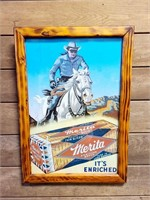 16 x 23 Cowboy Bread Advertising Print
