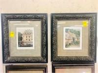 Pr. Signed Tom Caldwell Antique European pictures