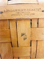 14 inch Longaberger basket Handmade Made in USA