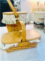 2   Longaberger basket Handmade Made in USA