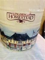 3 Longaberger Homestead Crocks Americana Theme