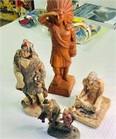Vintage Native American Statue lot