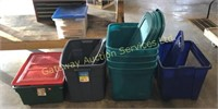 7 Assorted Size Totes with Lids