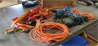 Assorted Extension Cords, Ratchet Straps