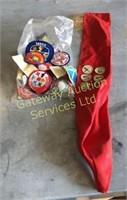 Ceramic Comode, Drum, Boy Scout Badges