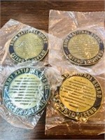 4 Military challenge Coins still in plastic