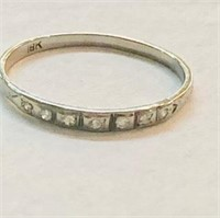 18K white gold antique band with 7 sm. diamonds