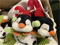 Large Lot of Christmas Slippers
