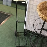 2 Black Displays and Rolling Cart