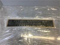 Acrylic Peyton Manning Football Display Case