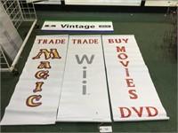 4 Game Store Lot- 3 Vinyl, 1 Foam Board