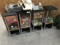 4 Large Northwestern Gumball Machines