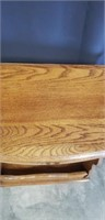 Beautiful wood side table with a drawer