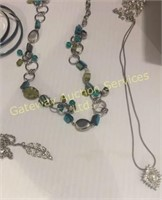 Assorted Costume Jewelry: Necklaces, Earrings,