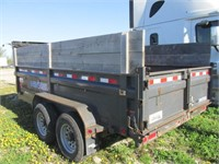 2015 LOAD TRAIL 14' DUMP TRAILER