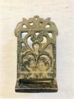 Cast Iron Wall match Holder