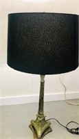 Tall Classic lamp with Black shade great cond