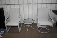 PATIO CHAIR & SMALL TABLE