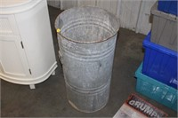 "27"" TALL METAL BUCKET"