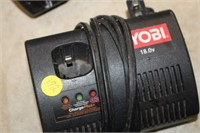 RYOBI BATTERY CHARGER & CRAFTSMAN BATTERY