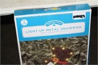 LIGHT UP METAL SNOWMAN