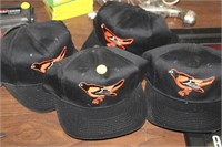 FOUR  BALTIMORE ORIOLES HATS