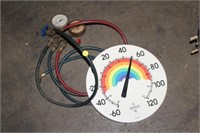 MANIFOLD GAUGES & THERMOMETER
