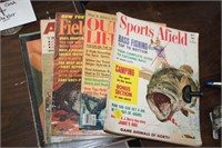 LOT OF MAGAZINES,SPORTS AFIELD,OUTDOOR LIFE,ETC