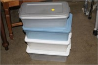 4 SMALL STORAGE CONTAINERS