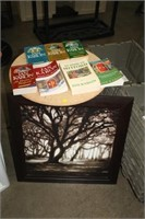 BOOKS & TABLE & PRINT