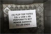 FLIP TOP TOTE X 5