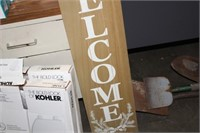 4' WELCOME SIGN