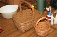 2 LONGABERGER BASKETS