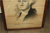 G.WASHINGTON FRAMED PRINT 24X41