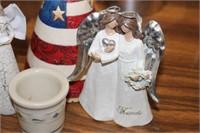 ANGEL FIGURES & MINI LONGABERGER JAR
