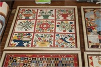4 FRAMED NEEDLE POINT PIECES