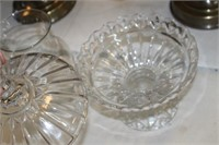 GLASS VASE & CANDY DISH