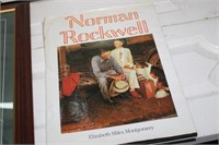 FRAMED NORMAN ROCKWELL PRINT & BOOK