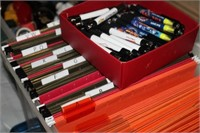 TOTE OF FILES & INK  PENS