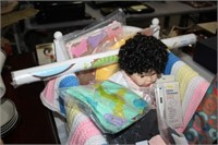 DOLL BED & CHILDS ITEMS