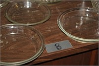 LOT OF PIE PLATES - PYREX AND FIREKING