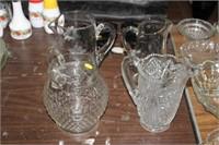 4 GLASS PITCHERS