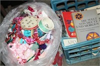 LOT OF CRAFT & SEWING ITEMS & BOOKS