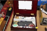 JEWERLY BOX OF VARIOUS ITEMS
