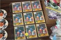 1987 BO JACKSON TOPPS CARDS